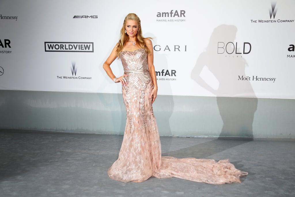 Paris Hilton struck a pose.