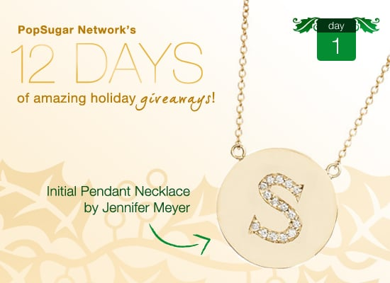 Giveaway to Win A Diamond Initial Jennifer Meyer Necklace As Worn By Nicole Richie and Jennifer Aniston!