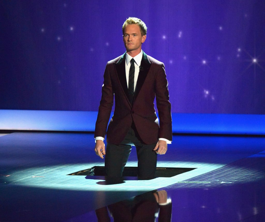 Neil Patrick Harris made a dramatic entrance for the Emmys.