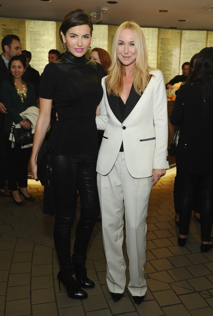 Camilla Belle joined Frida Giannini at Gucci's restoration premiere of Rebel Without a Cause in a leather-trimmed design.