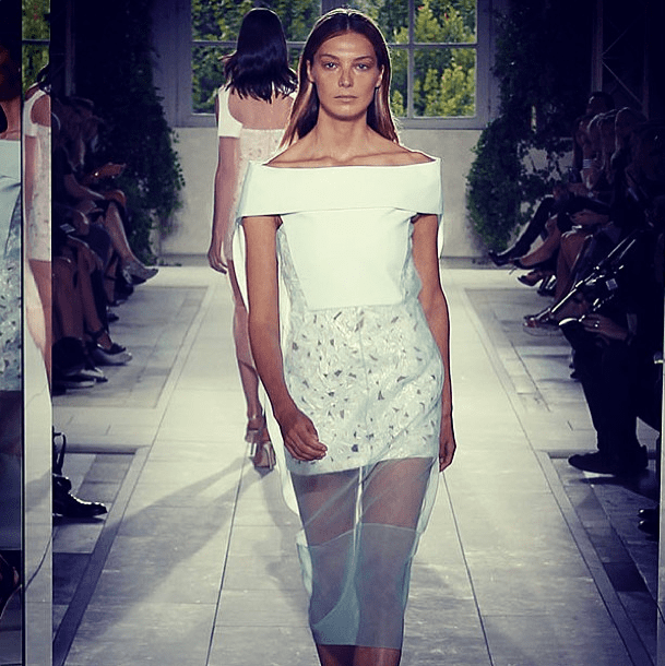 Americans were more than happy to be in Paris if it meant pretty clothes like Balenciaga's soft white look. Source: Instagram user harpersbazaarus