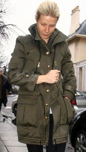 Photo of Gwyneth Paltrow Wearing Olive Green Jacket in London