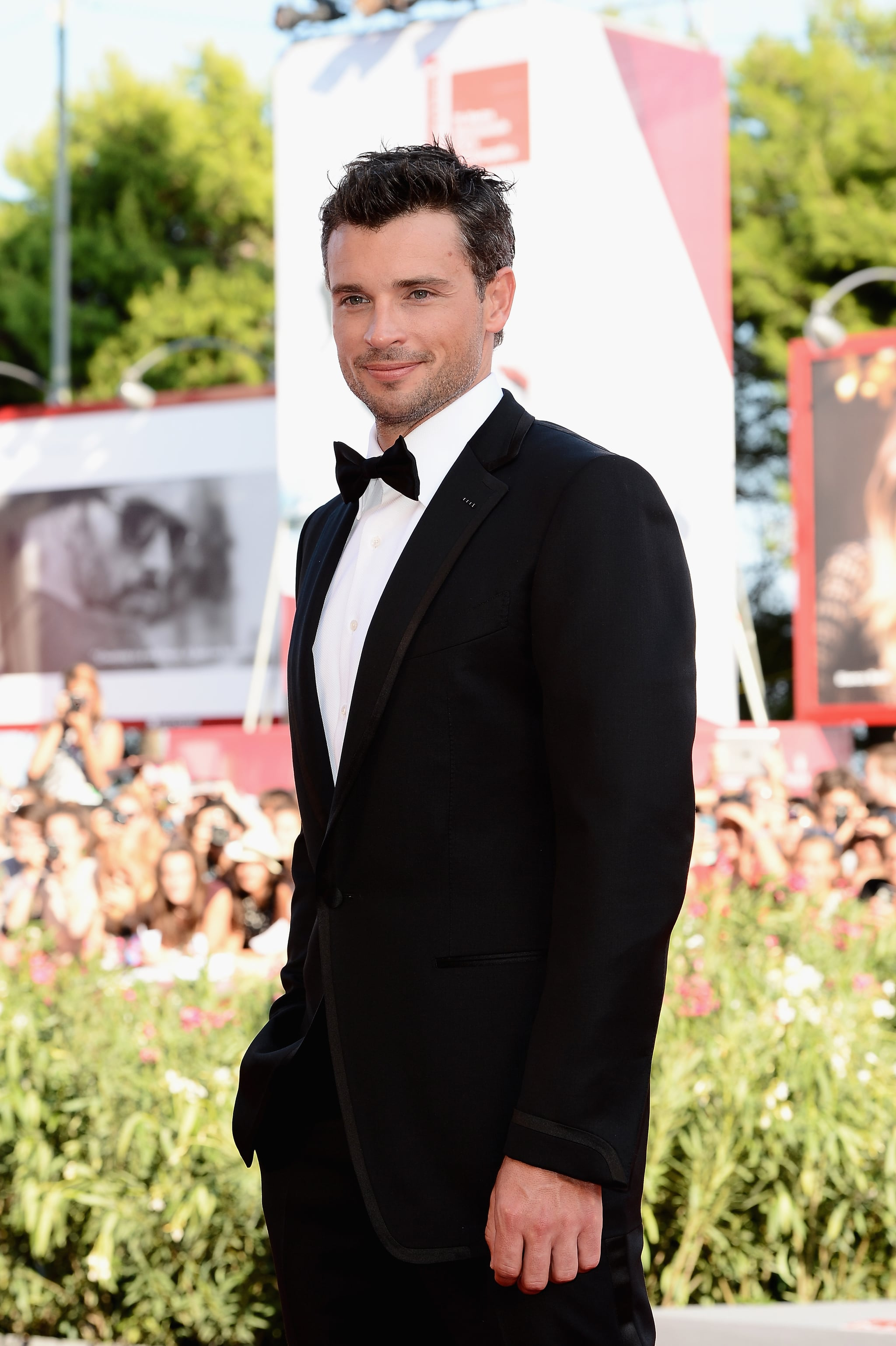 Tom Welling suited up for the Venice Film Festival.