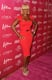 Mary J. Blige was right on trend in her red dress.