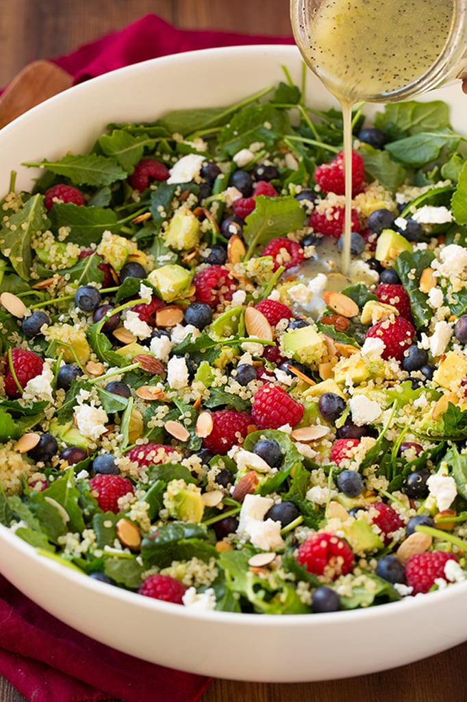 Berry Avocado Quinoa and Kale Salad