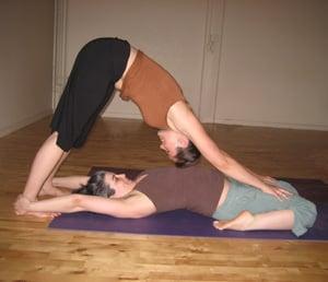 Partner Yoga Pose:  Dog Hero