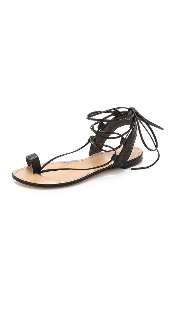 Stuart Weitzman Lasso Flat Sandals