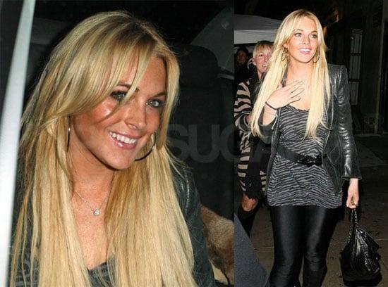 Lindsay Lohan Is Not So Coy at Koi
