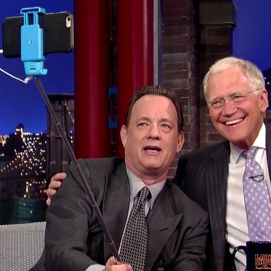 Tom Hanks and David Letterman Take a Selfie Together
