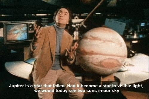 Carl knows a lot about the galaxy's history.