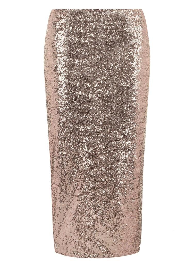 Dorothy Perkins Rose Gold Sequin Skirt