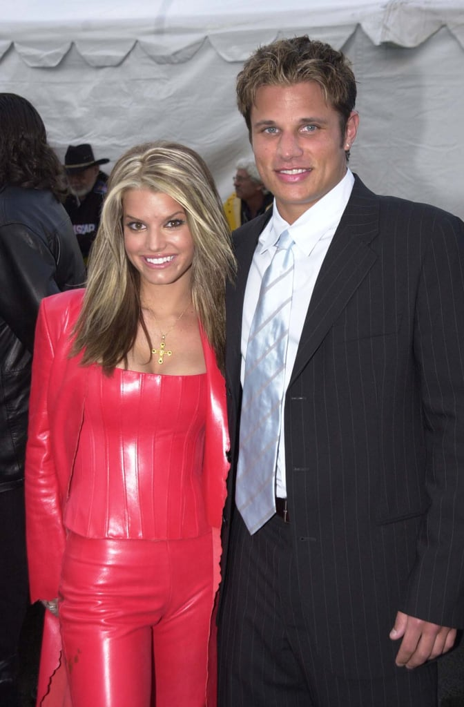 Jessica Simpson and Nick Lachey posed together in 2001.