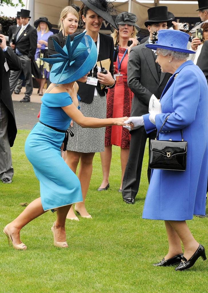 Katherine Jenkins shook hands with the queen.