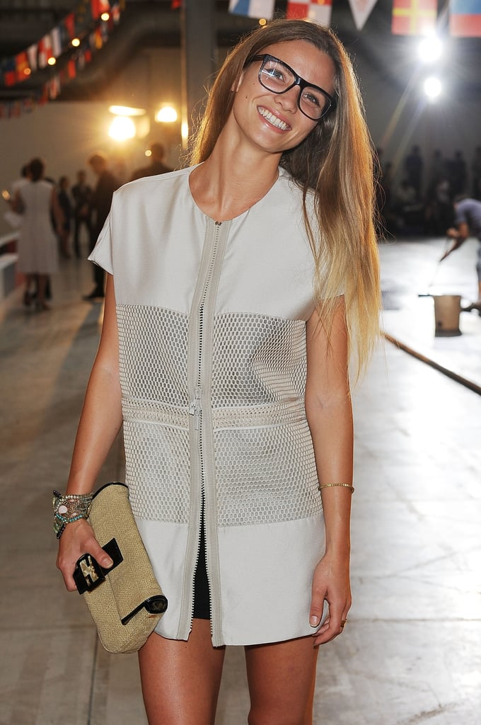 Fiammetta Cicogna at the Moncler Gamme Bleu Men's Spring 2013 show in Milan.