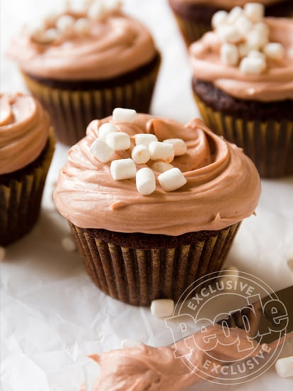 Get a Double Dose of Chocolate with These Hot Cocoa Cupcakes