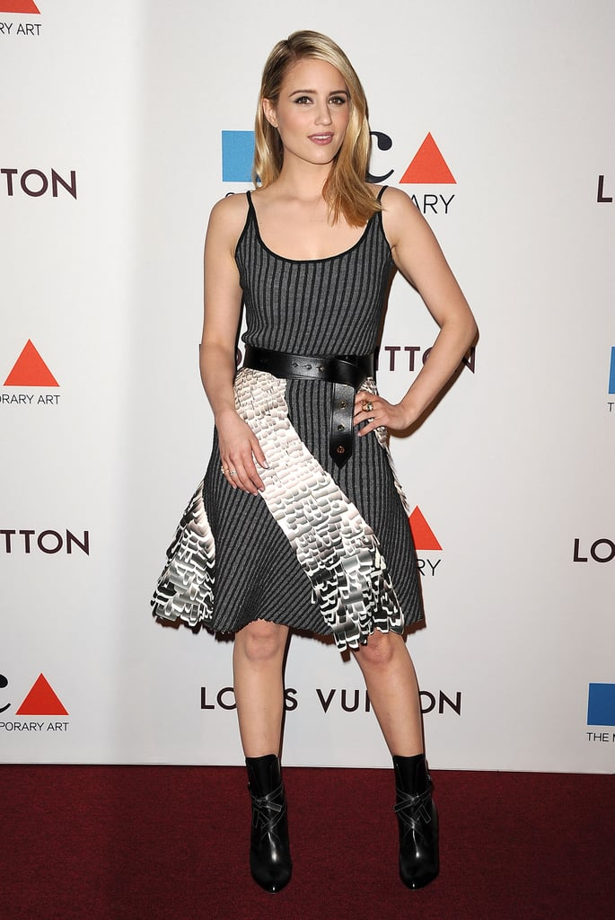 Dianna Agron struck a flirty pose.