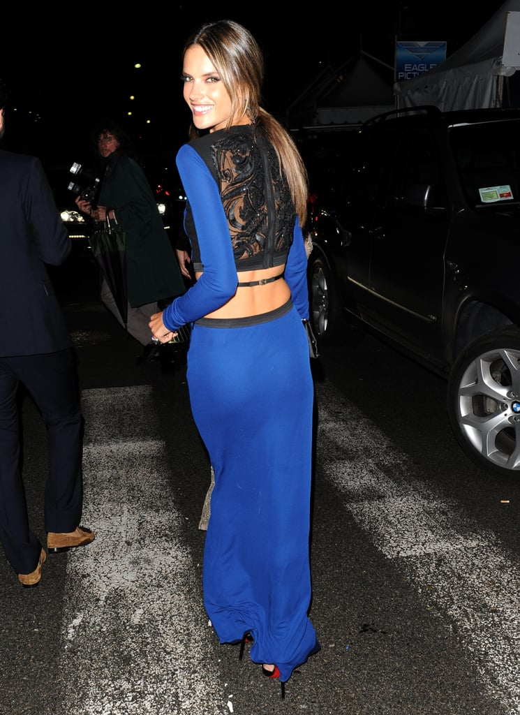 We loved this look from the front, but it was the sight of Alessandra Ambrosio leaving the Roberto Cavalli Cannes party that really made our jaws drop.