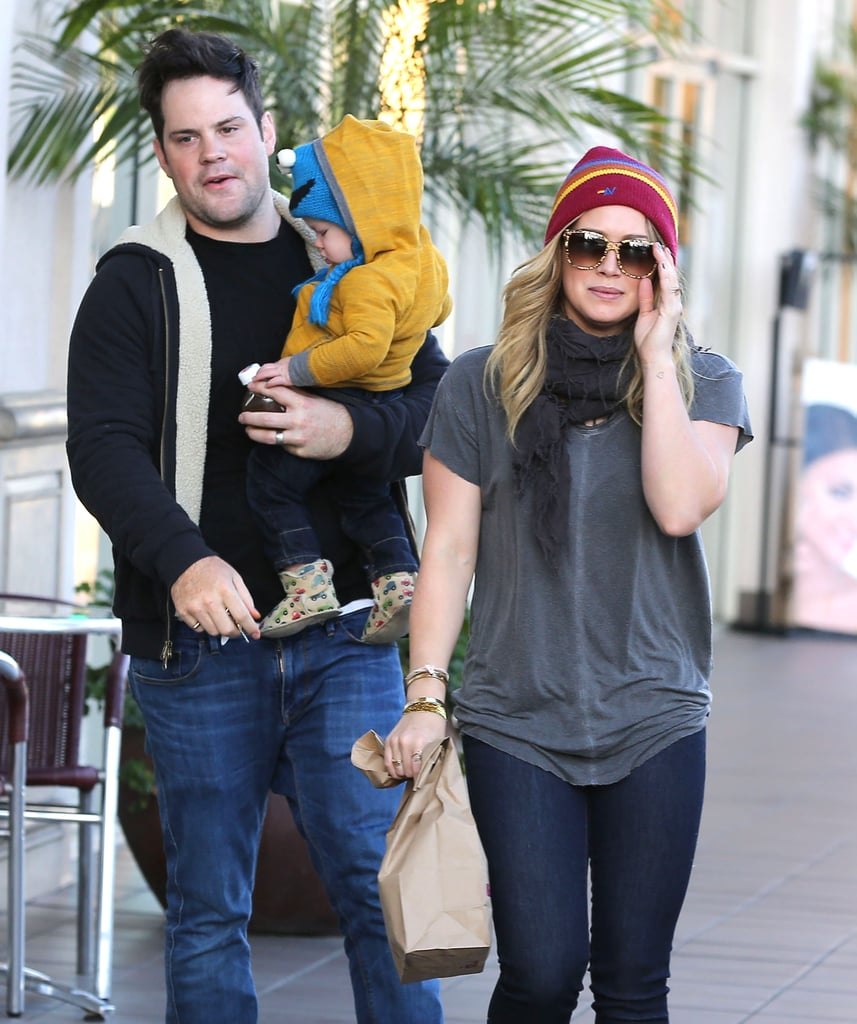 Hilary Duff and Mike Comrie grabbed breakfast with their son Luca in LA on Sunday.