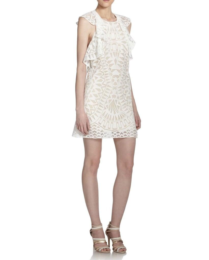 BCBGMAXAZRIA Printed Ruffle-Detail Dress