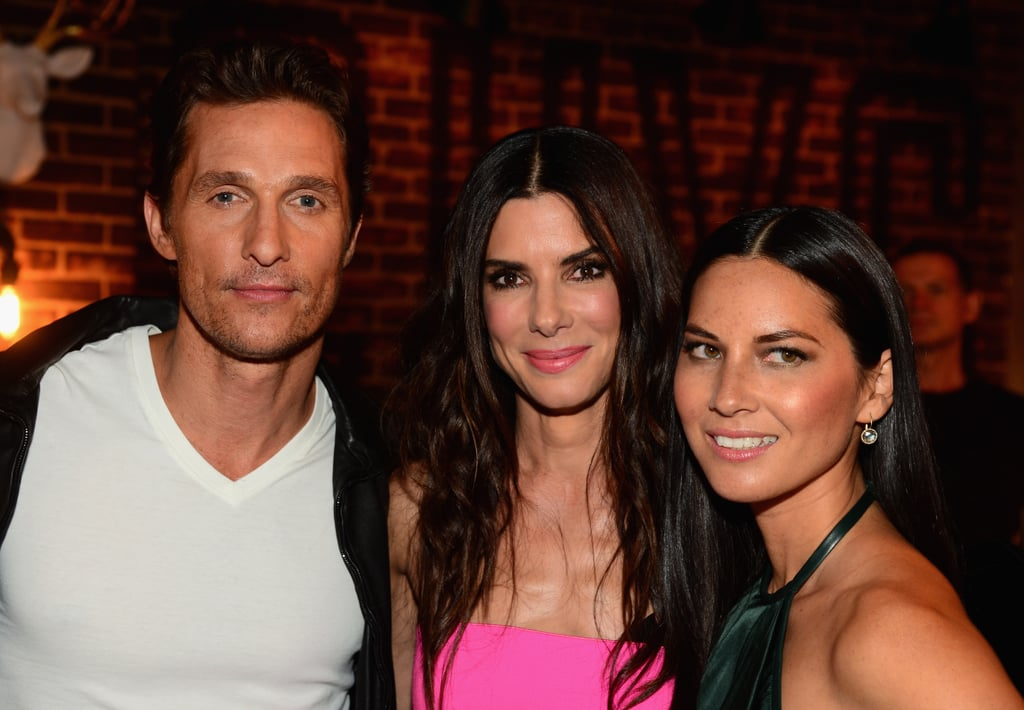 Matthew and Sandra spent time with Olivia Munn.