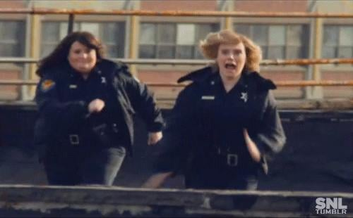 When She and Aidy Bryant Created a Cop Show Spoof