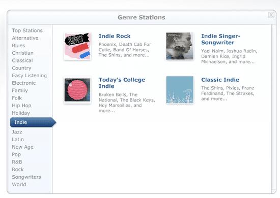 Pandora Introduces Genres