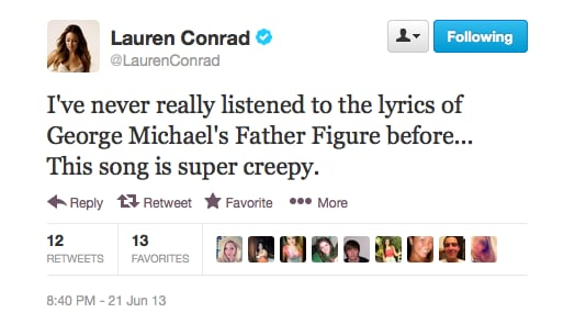 Cue our search for the lyrics, and. . . yep, kinda creepy. Interesting.