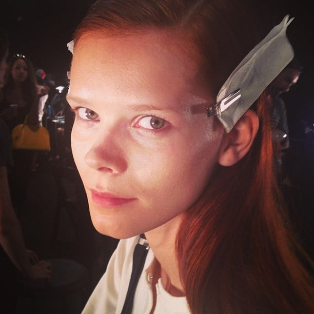 The barely there makeup at Narciso Rodriguez was a moment in minimalism.