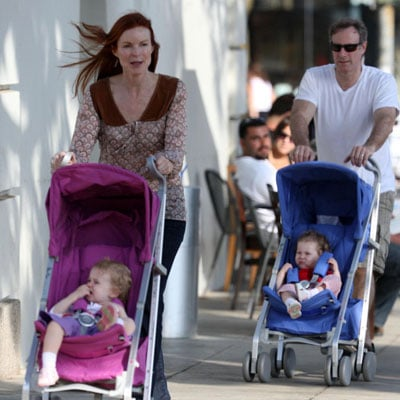 Marcia and Tom Take the Girls For a Stroll