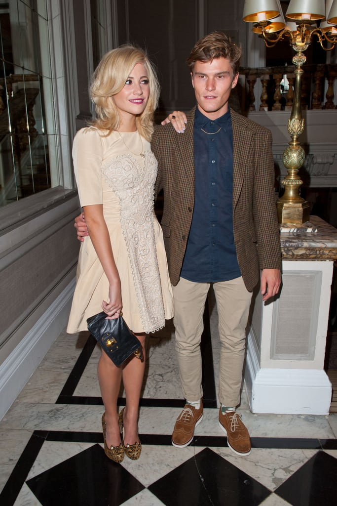 Pixie Lott and Oliver Cheshire at Temperley