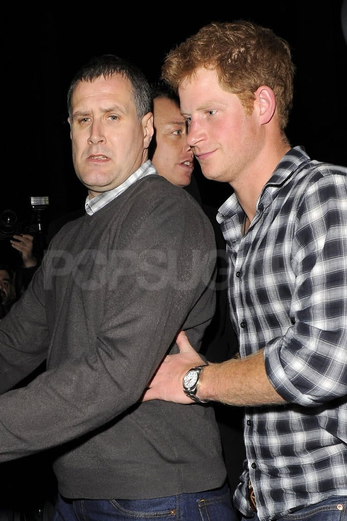 Prince Harry and his security guard.