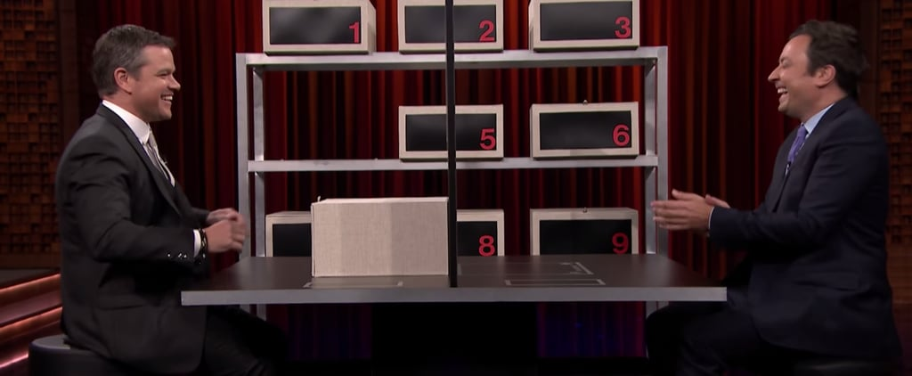 Matt Damon Hilariously Tries to Stump Jimmy Fallon in a Game of Box of Lies