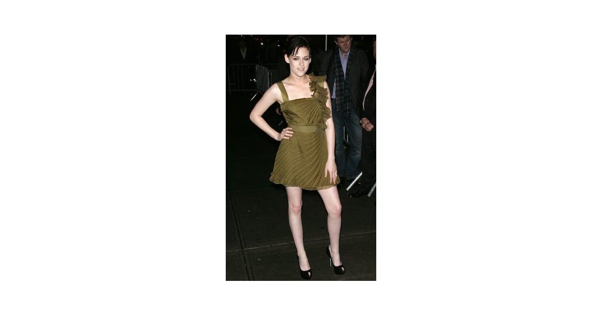 Photo of Kristen Stewart Wearing Green Valentino Dress at ...