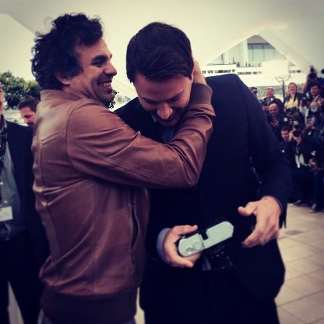 Channing Tatum got a hug from Mark Ruffalo. Source: Instagram user markruffalo