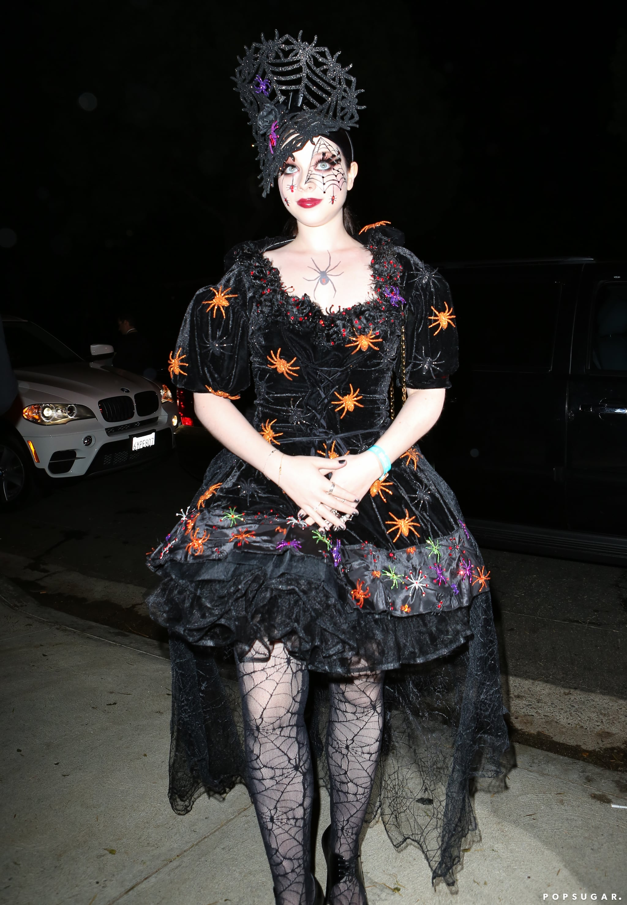 We're guessing Michelle Trachtenberg's costume for the Casamigos Halloween Party was something along the lines of a black widow.