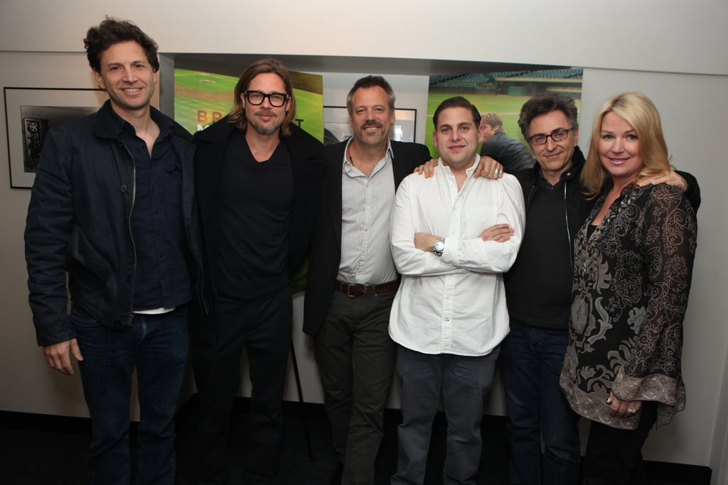 Bennett Miller, Brad Pitt, Wally Pfister, Jonah Hill, Christopher Tellefsen, and Deb Adair held a screening of Moneyball.