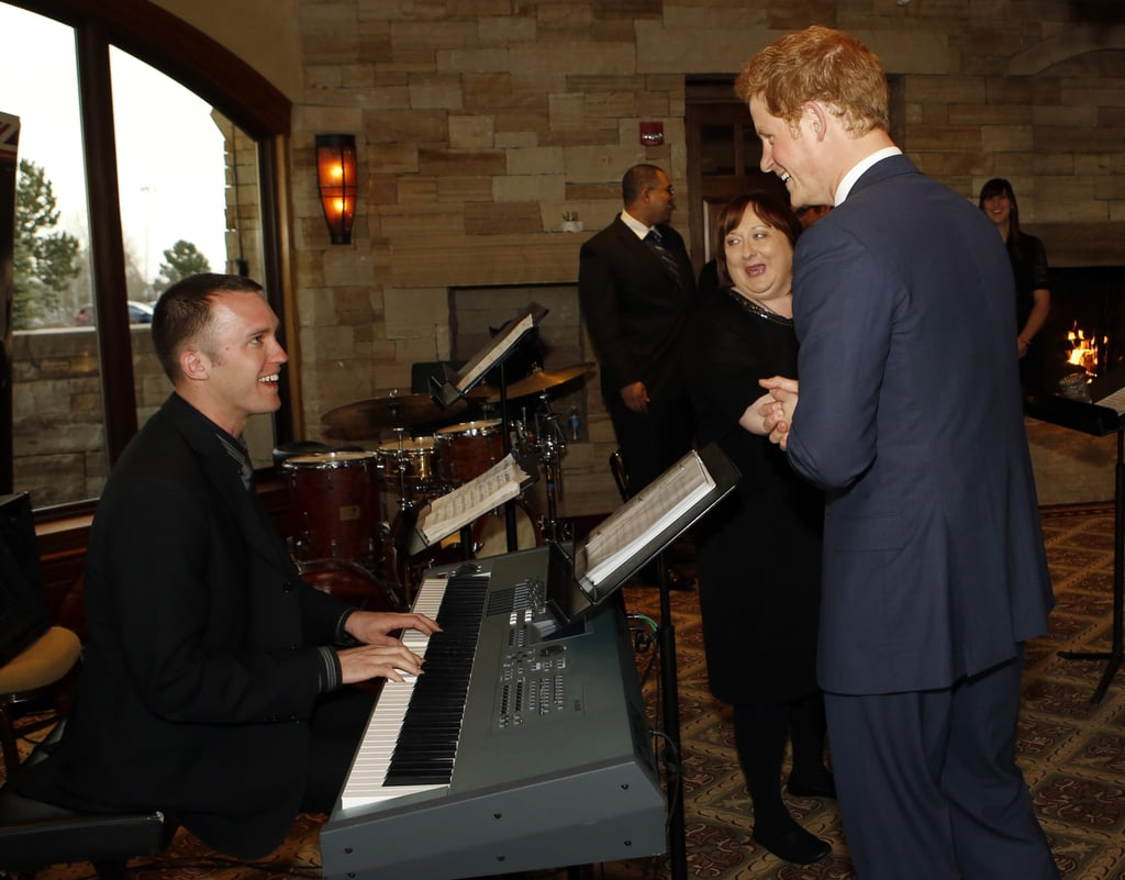 Prince Harry Charms Olympic Swimmer Missy Franklin in Denver