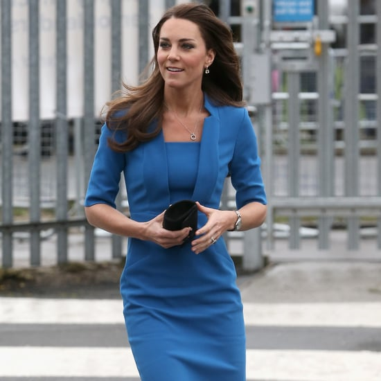 Kate Middleton Blue Knee-Length Dress