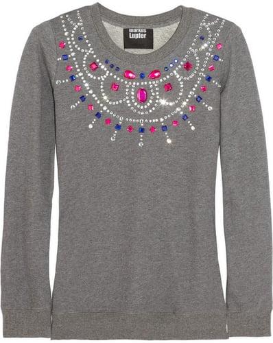 Markus Lupfer Embellished cotton-jersey sweatshirt