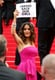 Salma Hayek supported the #BringBackOurGirls movement at the premiere of The Prophet on Saturday.