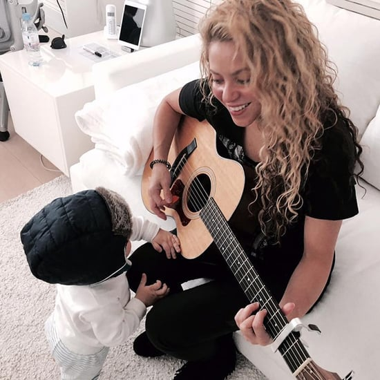 Shakira Playing New Music For Son