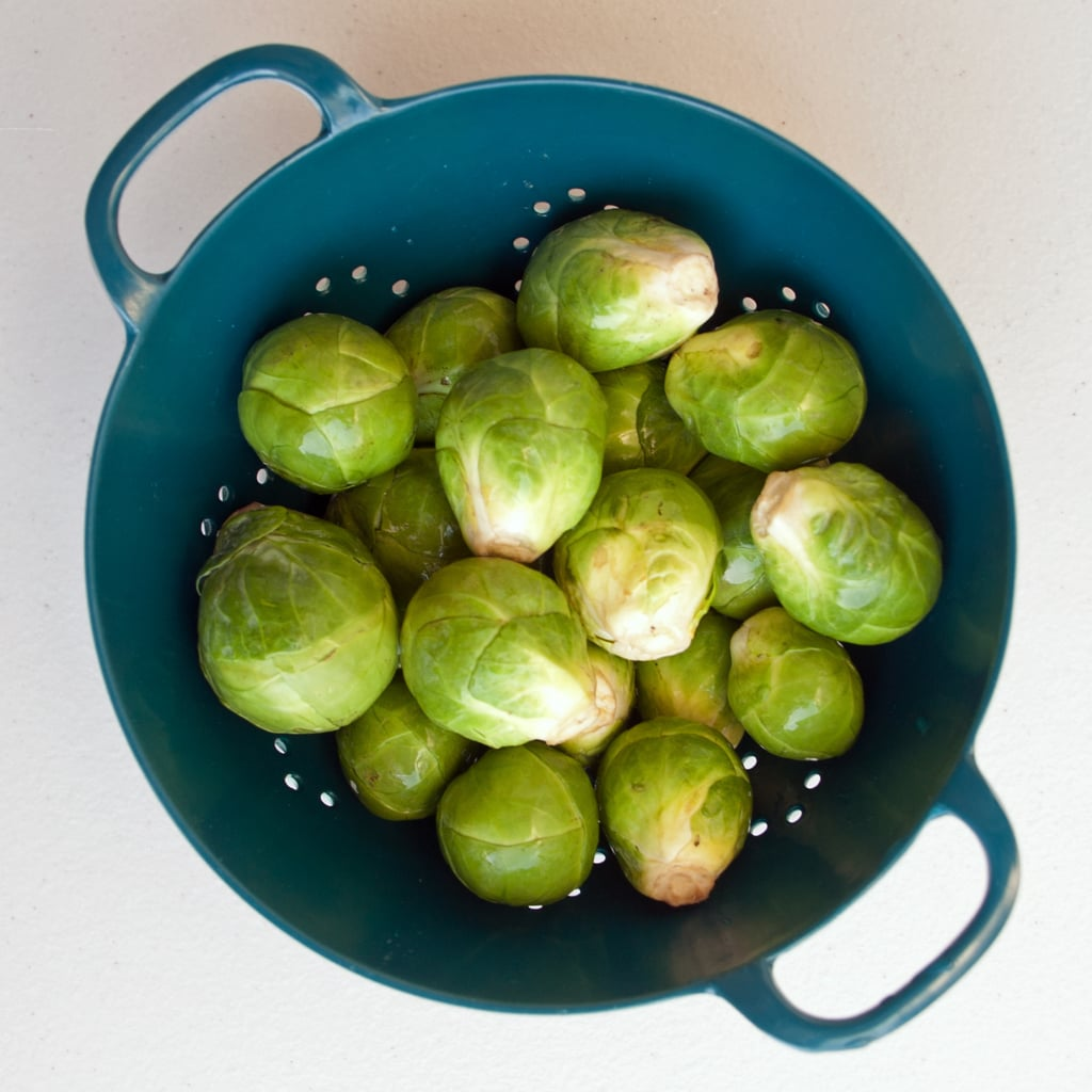 Rinse the Brussels Sprouts