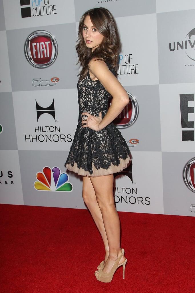 Troian showed off her legs in a mini dress.
