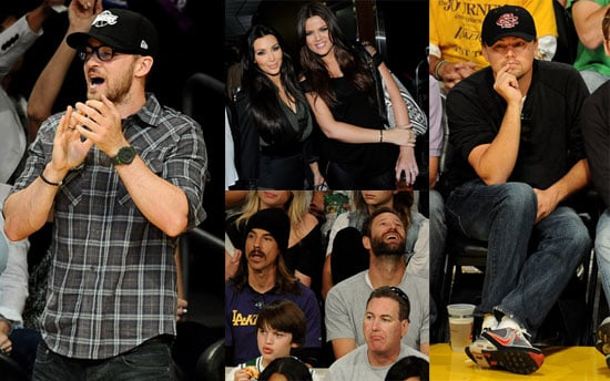 Pictures of Justin Timberlake And Leonardo DiCaprio at a Lakers Game 2010-06-07 23:00:40