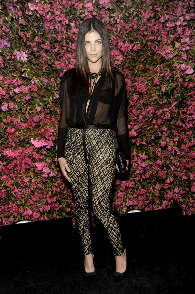 Julia Restoin-Roitfeld's sheer black blouse provided just a hint of sexiness to the Chanel event at Tribeca Film Festival.
