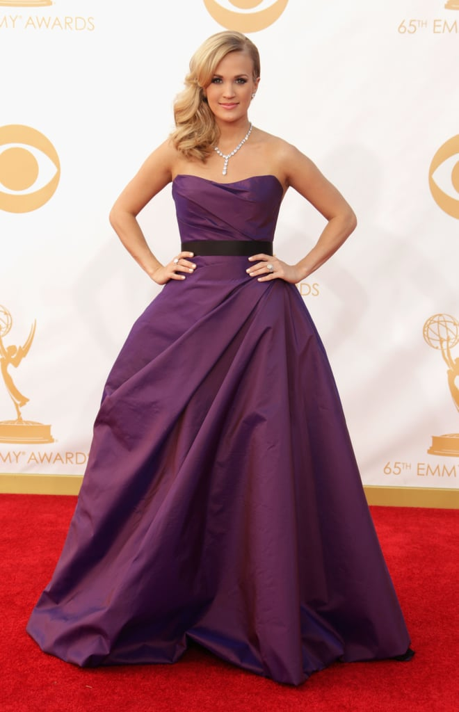 It was full glamour for Carrie Underwood, who picked a ballgown by Romona Keveza.