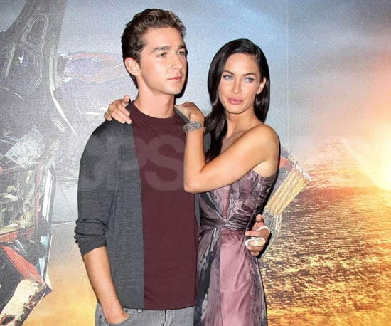 Photo Slide of Shia LaBeouf and Megan Fox at a Transformers Photo Call in Paris