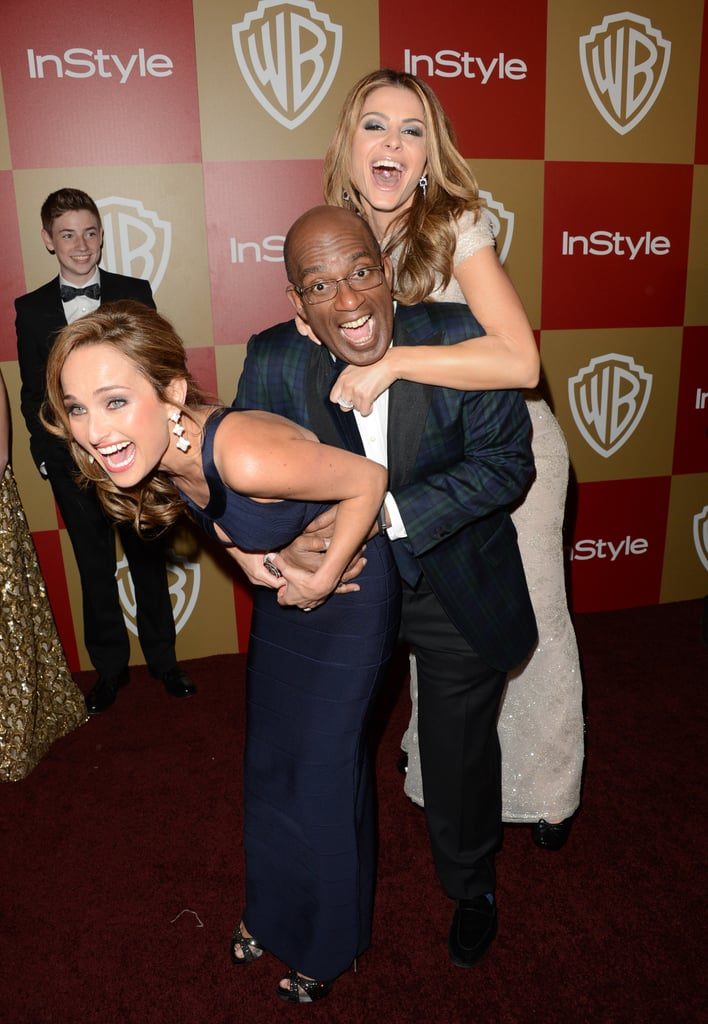 Al Roker, Maria Menounos, and Giada De Laurentiis joked around on their way into the InStyle party.