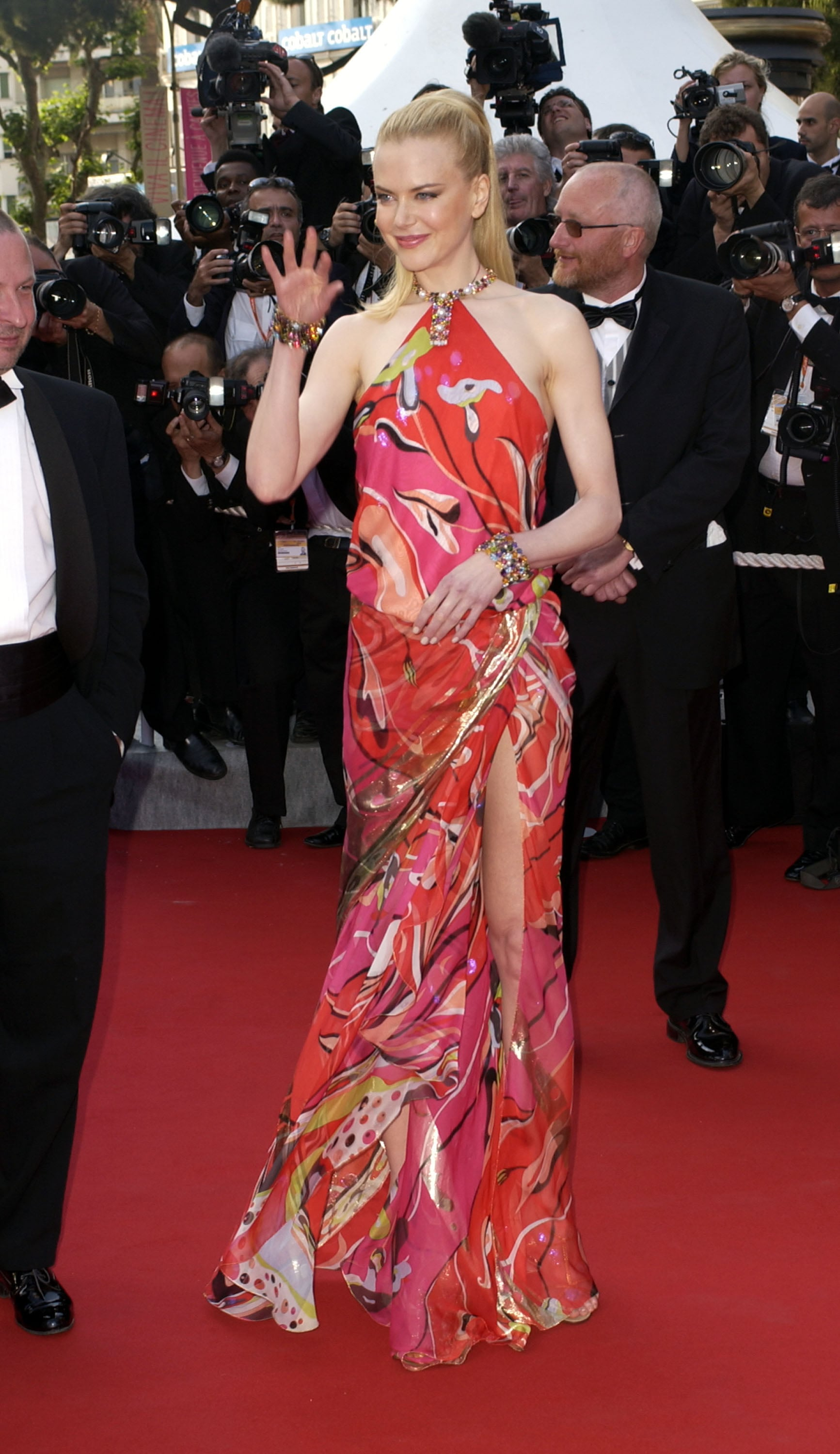 Nicole Kidman wore a Pucci dress to the 2003 Cannes premiere of Dogville.