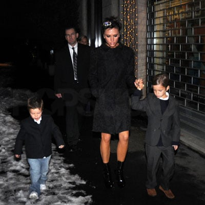 Photos of Victoria Beckham, Cruz Beckham, Romeo Beckham Out in Milan